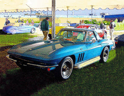Blue Steel - Chevrolet Corvette Stingray Art Print