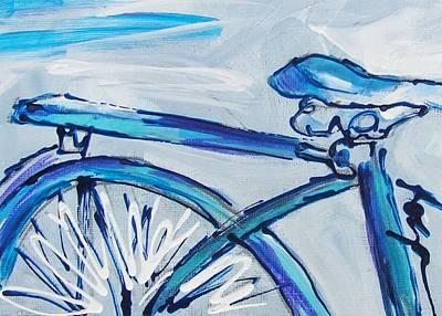 Blue Streak Art Print