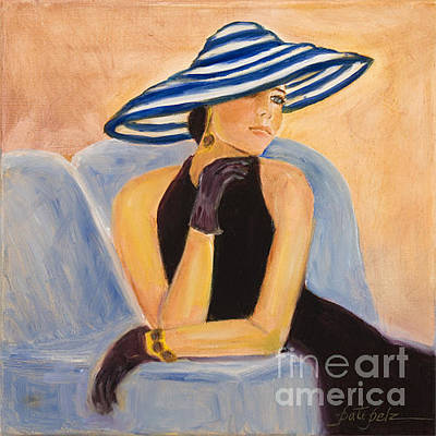 Painting - Blue Stripe Hat by Pati Pelz