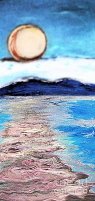 Blue Sunrise Rendered Art Print