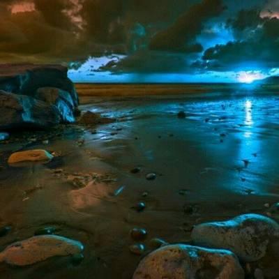 Nature_shooters Photograph - Blue Sunset #insta_pick_skyart #iskyhub by Yudha Ombok