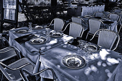 Art Print featuring the photograph Blue Table by Rick Bragan