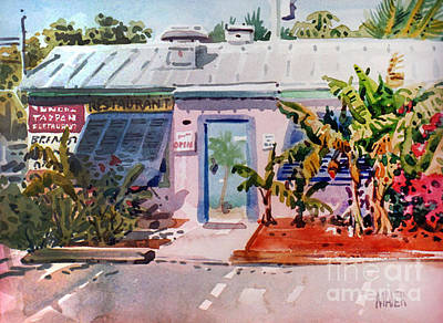 Painting - Blue Tarpon Resturant by Donald Maier
