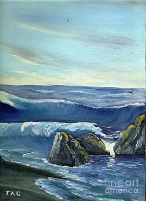 Blue Tides Of Time Art Print