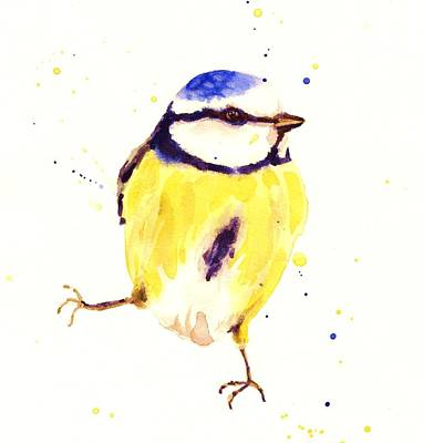 Blue Tit Painting - Blue Tit Painting by Alison Fennell