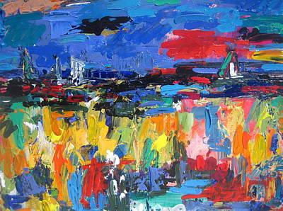 Portofino Italy Painting - Blue Toscano 03 by Len Yurovsky