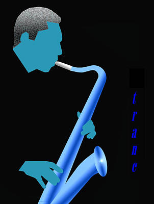 Digital Art - Blue Trane by Victor Bailey