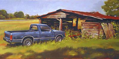 Blue Truck Original by Todd Baxter