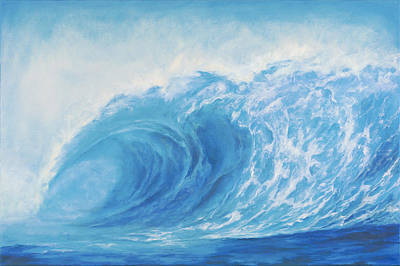 Painting - Blue Tsunami Wave by Suzie Richey