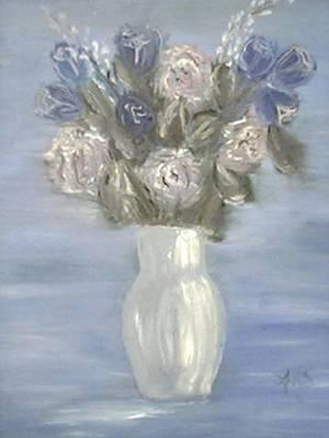 Blue Vase Art Print by Angela Stout
