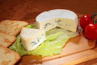 Blue-veined Camembert Art Print by Paul Cowan