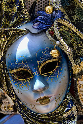 Photograph - Blue Venetian Mask by David Smith