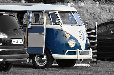 Bus Photograph - Blue Vw Camper by Paul Howarth