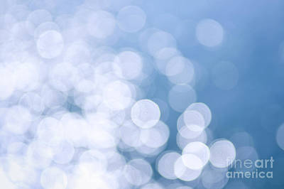 Blue Water And Sunshine Abstract Art Print