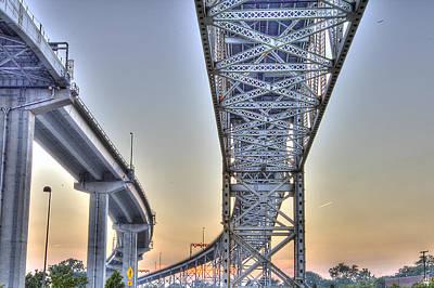Michigan Port Huron Photograph - Blue Water Bridge Port Huron Mi by Nicholas  Grunas