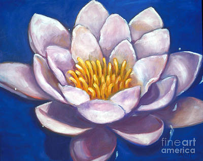 Painting - Blue Water Lily by Audrey Peaty