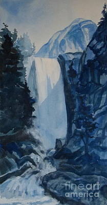 Painting - Blue Waterfalls by Pat Crowther