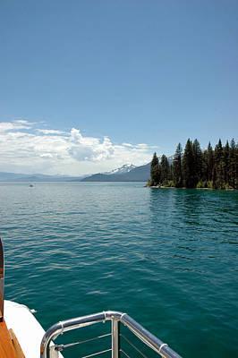 Snow Storm Photograph - Blue Waters Entice Lake Tahoe by LeeAnn McLaneGoetz McLaneGoetzStudioLLCcom