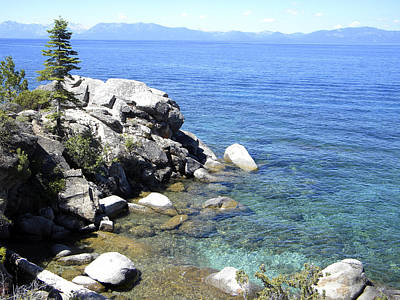 Photograph - Blue Waters Of Lake Tahoe by Frank Wilson