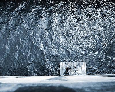 Blue Welder Original by Jan W Faul