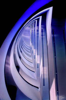 Photograph - Blue Whale Staircase by Endre Balogh
