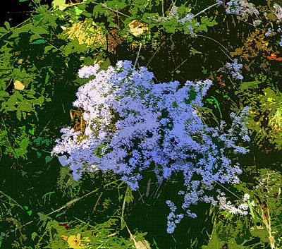 Blue Wild Flowers Art Print by Mindy Newman