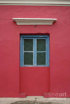Photograph - Blue Window Tlacotalpan Mexico by John  Mitchell