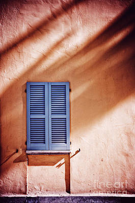 Photograph - Blue Window With Shadows by Silvia Ganora