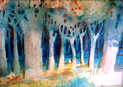 Painting - Blue Woods by Steven Holder