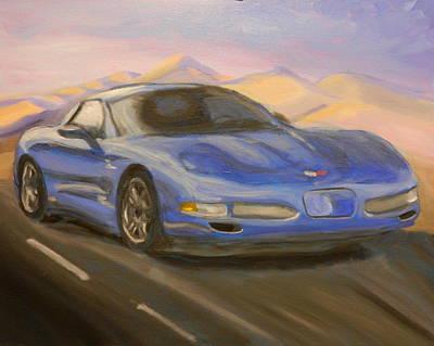 Sportscar Painting - Blue Z-06 Again by James Lopez