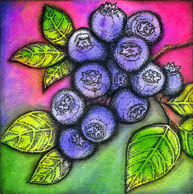Mixed Media - Blueberries by Dion Dior