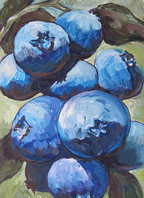Painting - Blueberries by Sandy Tracey
