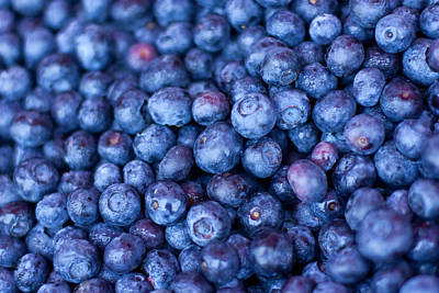 Food And Beverage Royalty-Free and Rights-Managed Images - Blueberries by Tanya Harrison