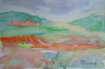 Blueberry Barrens Painting - Blueberry Barrens by Francine Frank