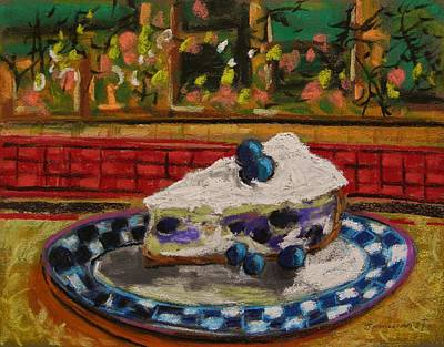 Blueberry Drawing - Blueberry Cheesecake by John Williams