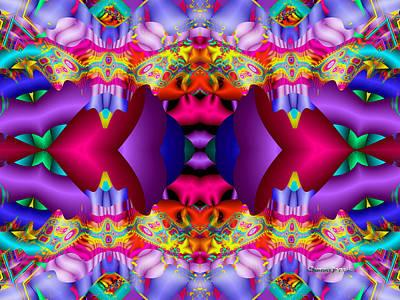 Trippy Digital Art - Blueberry Ice by Robert Orinski