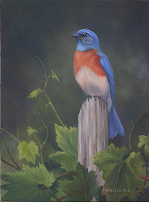 Painting - Bluebird by Kathleen  Hill
