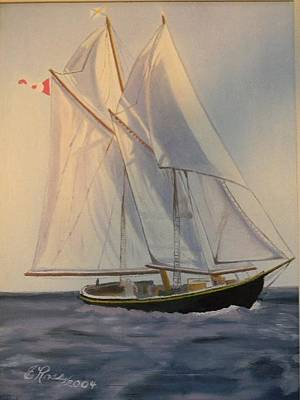 Bluenose Painting - Bluenose II by Edith Ross