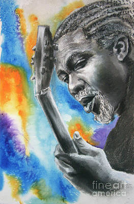 Mixed Media - Blues Guitar 1 by Gary Williams