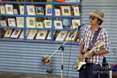Photograph - Blues Guitarist by John  Mitchell