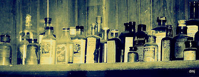 Photograph - Blues In The Bottles by Diane montana Jansson