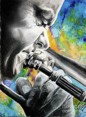 Mixed Media - Blues Trombone 1 by Gary Williams