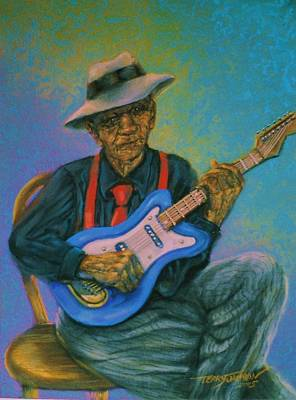 Pastel - Bluesman by Terry Jackson