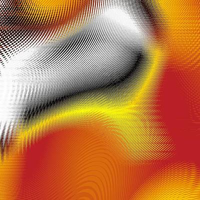 Art Print featuring the digital art Blurred by Jeff Iverson