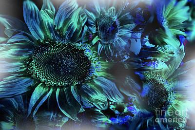 Blushing Sunflowers Art Print by Christine Mayfield