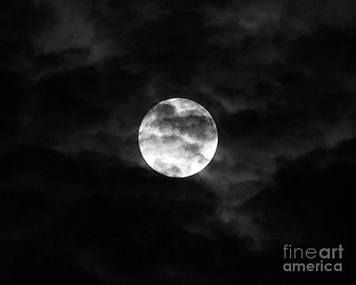 Lunation Photograph - Blustery Blue Moon by Al Powell Photography USA