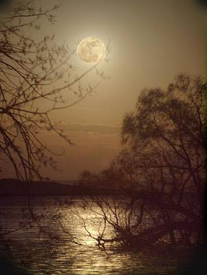 Photograph - Blustery Moon by HW Kateley