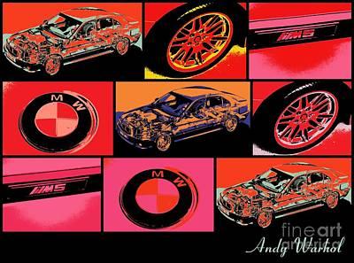 Bmw M5 Art Print by RJ Aguilar