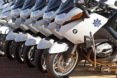 Photograph - Bmw Police Motorcycles by Jill Reger