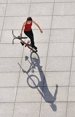 Photograph - Bmx Flatland Shadow Play Monika Hinz by Matthias Hauser